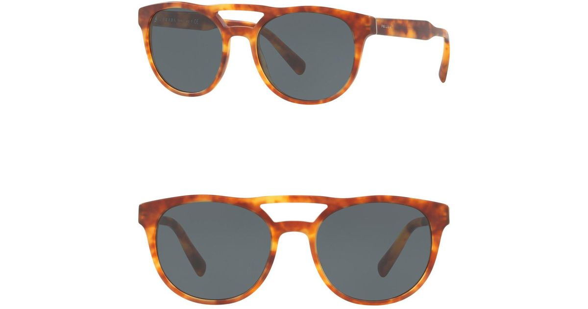 76aeb1743de3 Lyst - Prada 54mm Round Aviator Sunglasses for Men