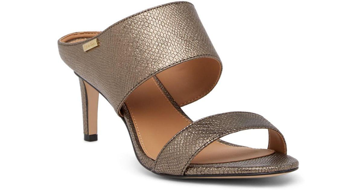 Calvin Klein Cecily Lizard Embossed Leather Mule SByIDfE7