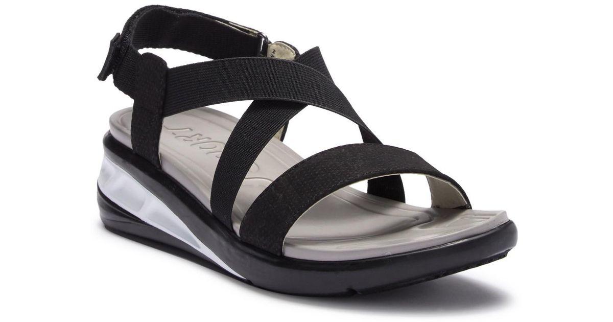 24cda216a07 Lyst - Jambu J-sport Sunny Wedge Sandal in Black