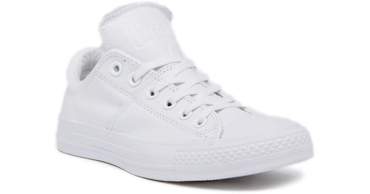 6067c4a0685b Lyst - Converse Chuck Taylor All Star Madison Oxford Sneaker in White