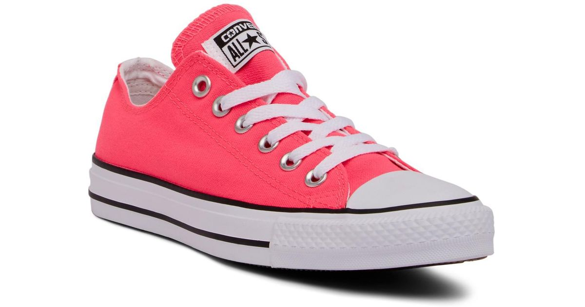 Lyst - Converse Chuck Taylor All Star Canvas Knockout Oxford Sneaker  (unisex) in Pink fd8c304a0