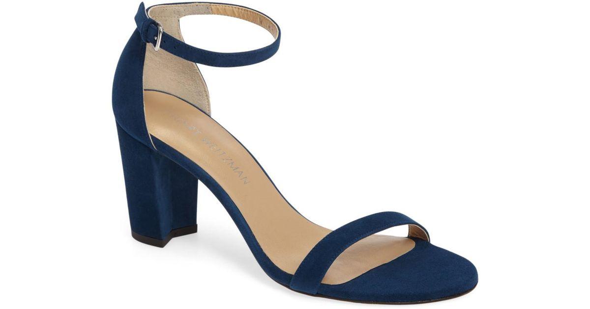 282b312bc848 Lyst - Stuart Weitzman Nearlynude Ankle Strap Sandal (women) in Blue