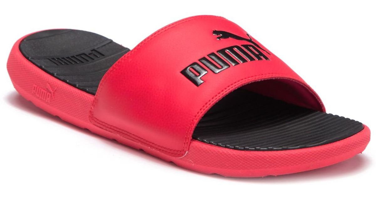ce4d037ab Lyst - PUMA Cool Cat Slide Sandal in Red for Men - Save 25%