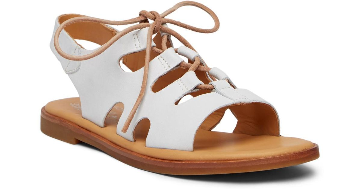 15a70309723 Lyst - Kork-Ease Pearl Ghillie Lace-up Sandal in White