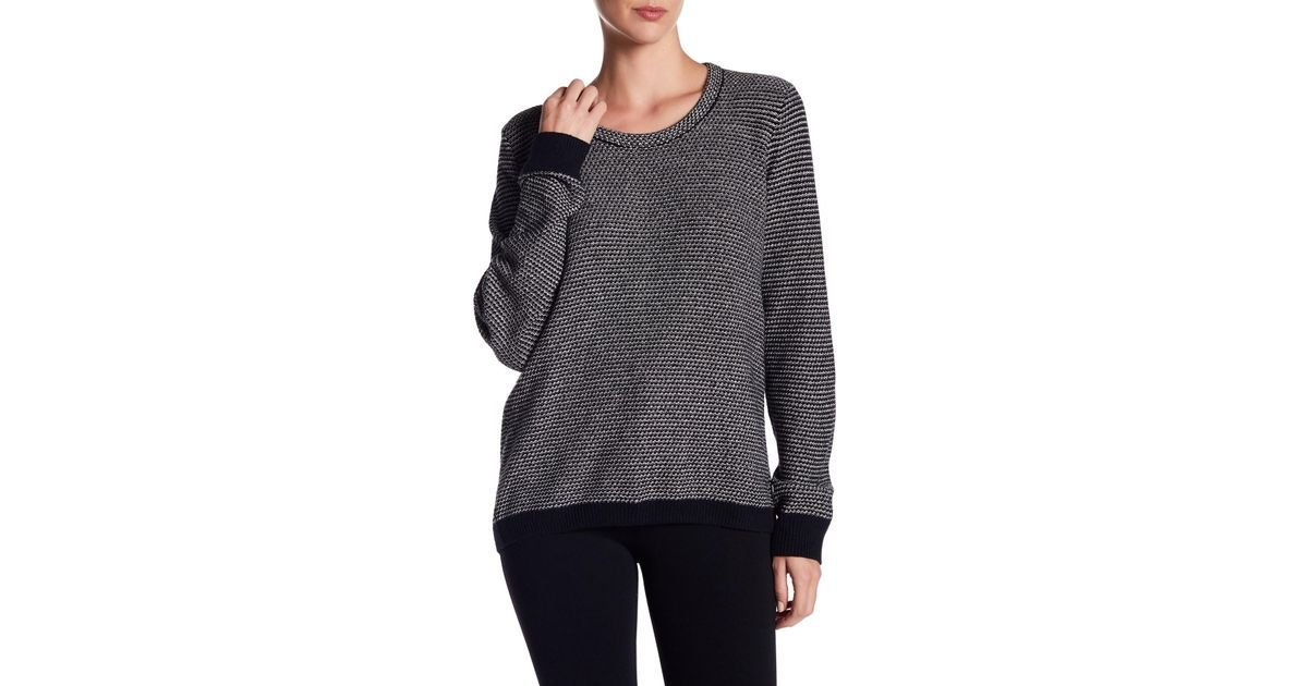 3d47c5e93b99d Lyst - Madewell Crew Neck Knit Sweater in Black