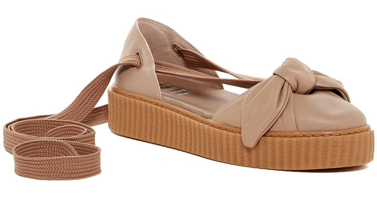 d331b74b33f6f6 Lyst - Puma Fenty By Rihanna Bow Leather Creeper Sandal