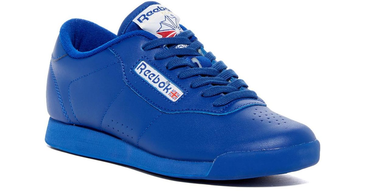 02068ec60a6d2 Lyst - Reebok Princess Spirit Running Sneaker in Blue