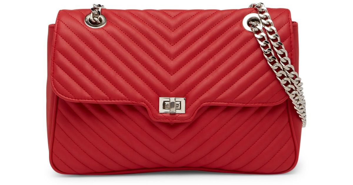 740c4cfd142 Steve Madden Misty Quilted Crossbody Bag in Red - Lyst