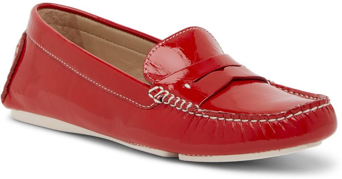 3bcea019d12 Lyst - Johnston   Murphy Maggie Penny Loafer - Narrow Width Available in Red