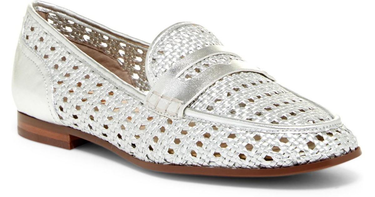 7083a628abe Lyst - Sam Edelman Leora Loafer in Metallic
