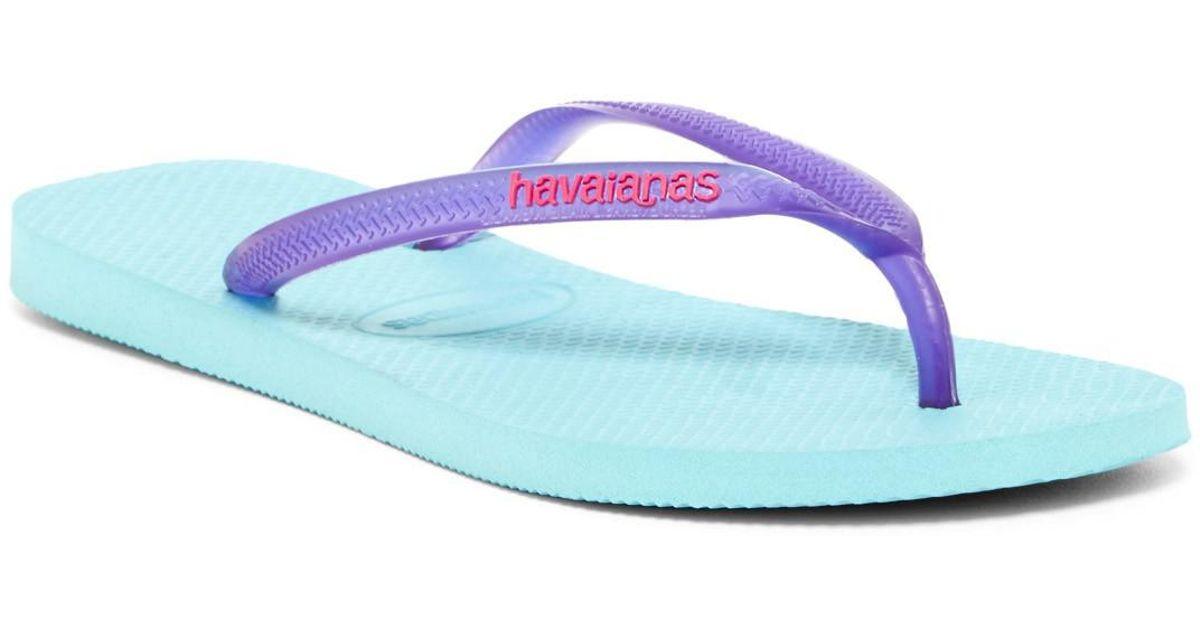 Havaianas Slim Logo Popup Flip Flop (Unisex) dYBxMyr