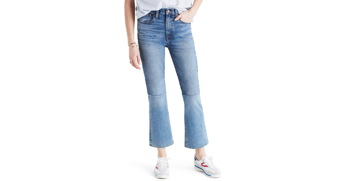 66841177f2e Madewell Retro Crop Bootcut Jeans: Two-tone Edition (jenkins) in Blue - Lyst