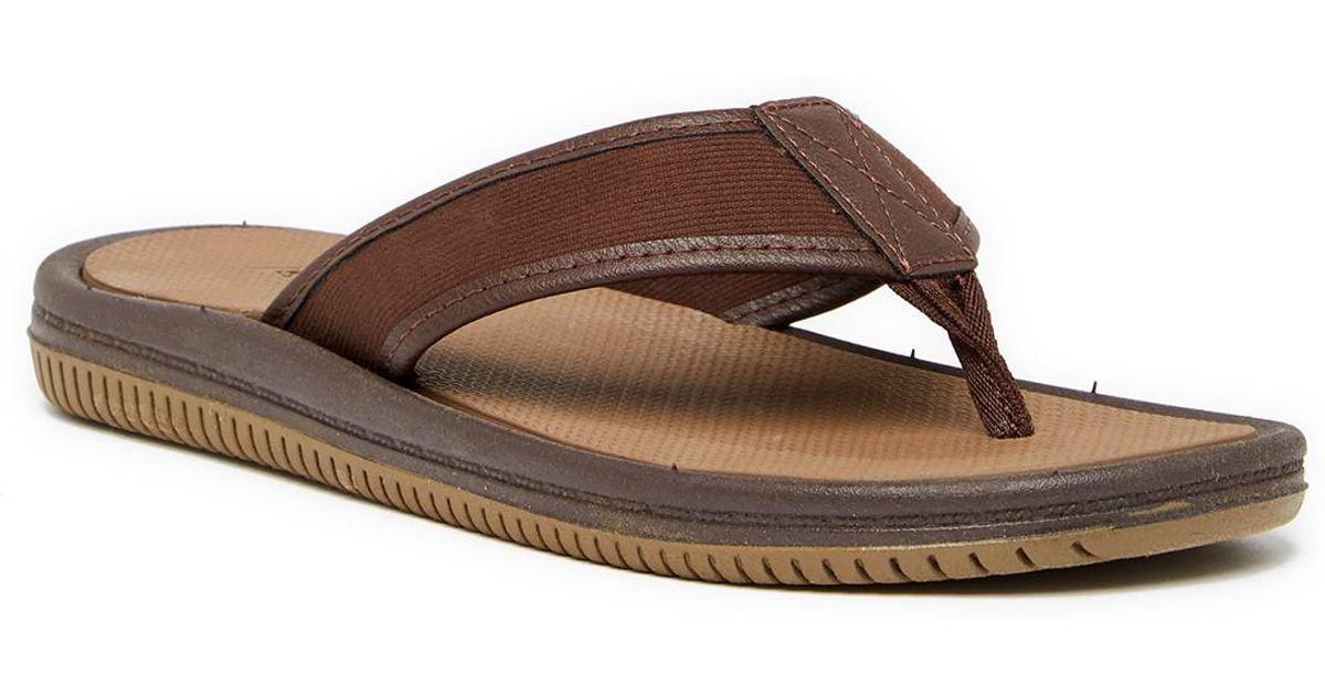 fbbf0f0048d146 Lyst - ALDO Canotto Flip Flop in Brown for Men