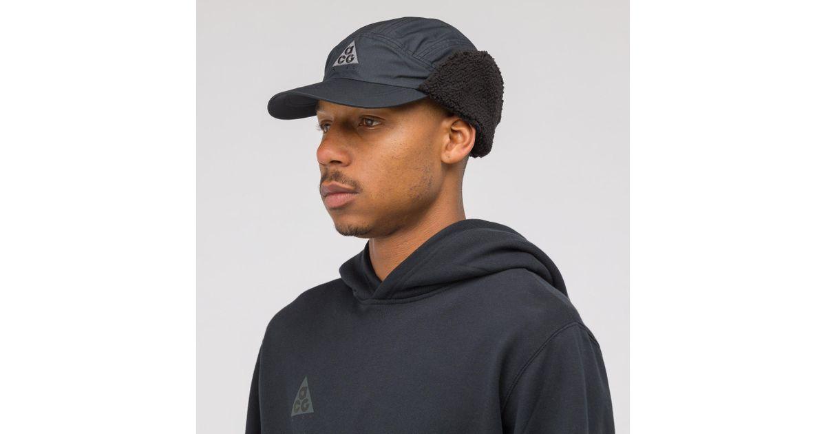 c110448ea093b Nike Acg Tailwind Sherpa Hat In Black in Black for Men - Lyst