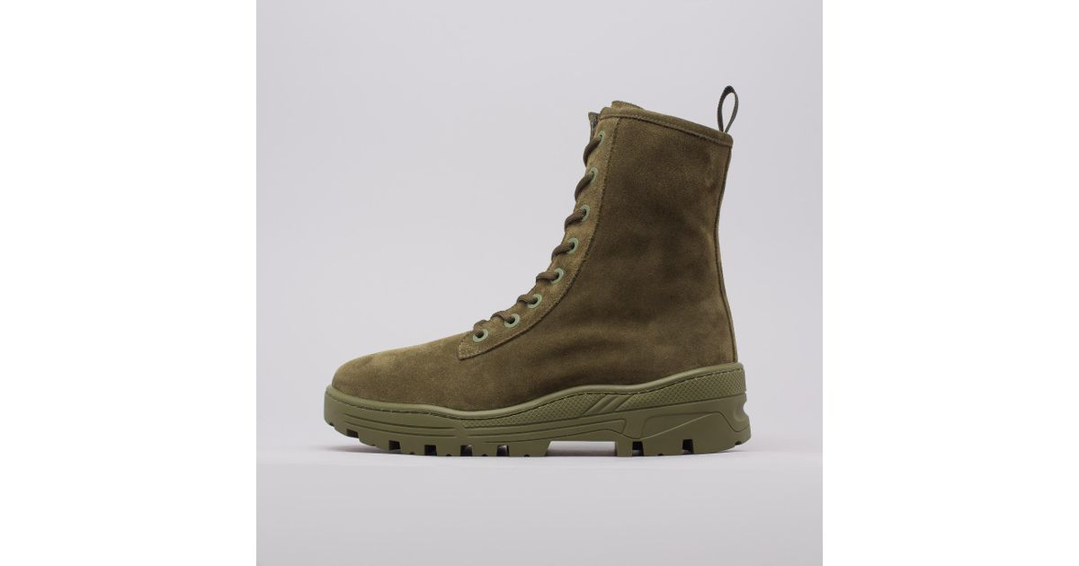 dc215928a Yeezy Thick Suede Combat Boot In Military Green in Green for Men - Lyst