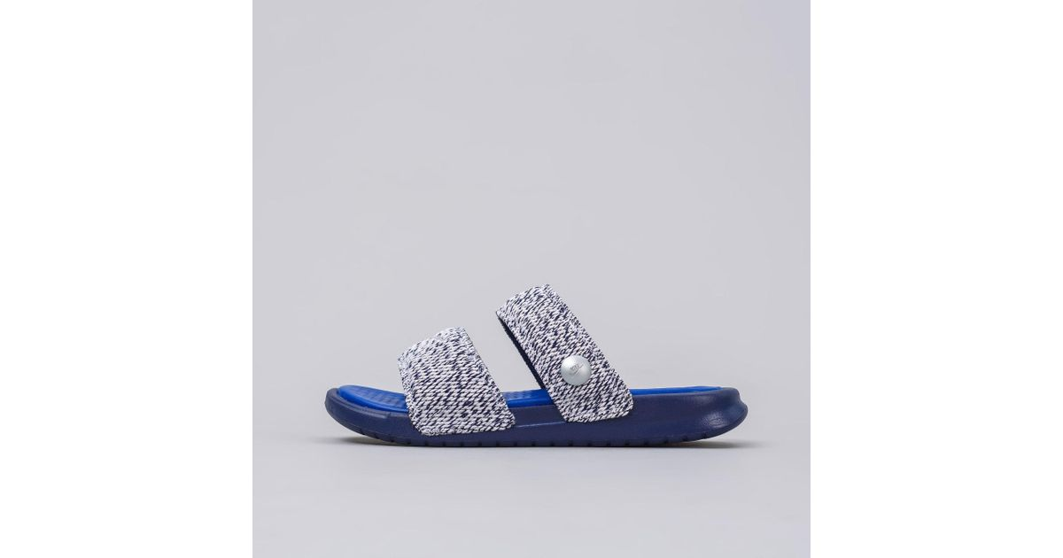 2ddb3b718f8a ... Lyst - Nike Lab X Pigalle Benassi Duo Ultra Slide In Loyal Blue in Blue  for ...