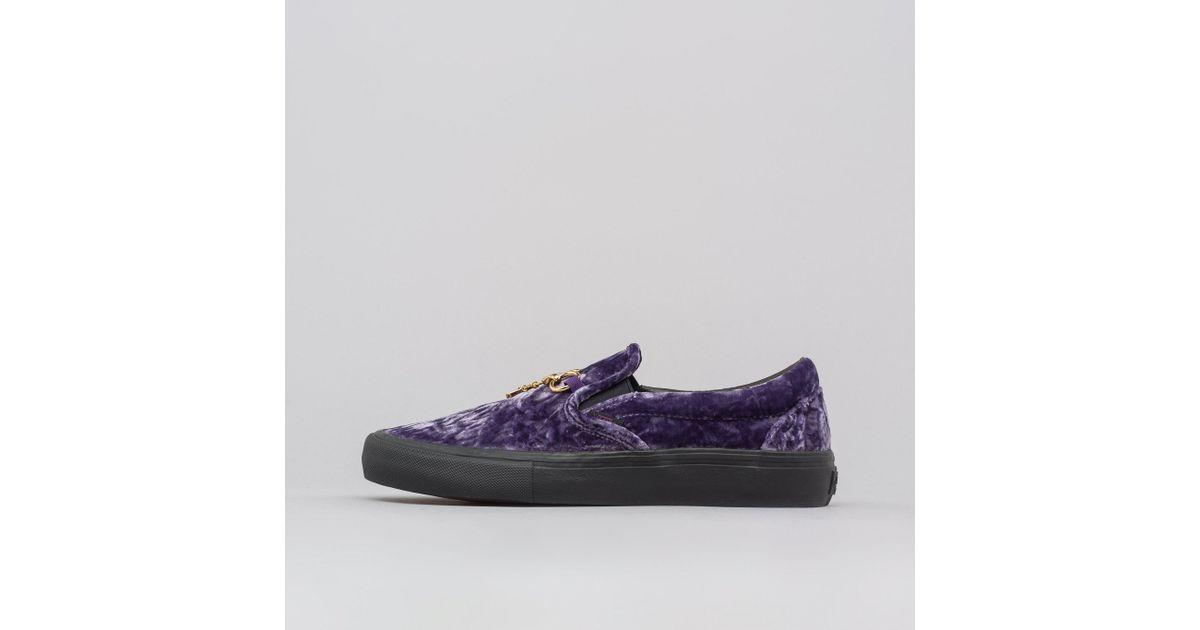 3d3a874270 Lyst - Vans X Needles Classic Slip-on Velvet In Purple in Purple for Men