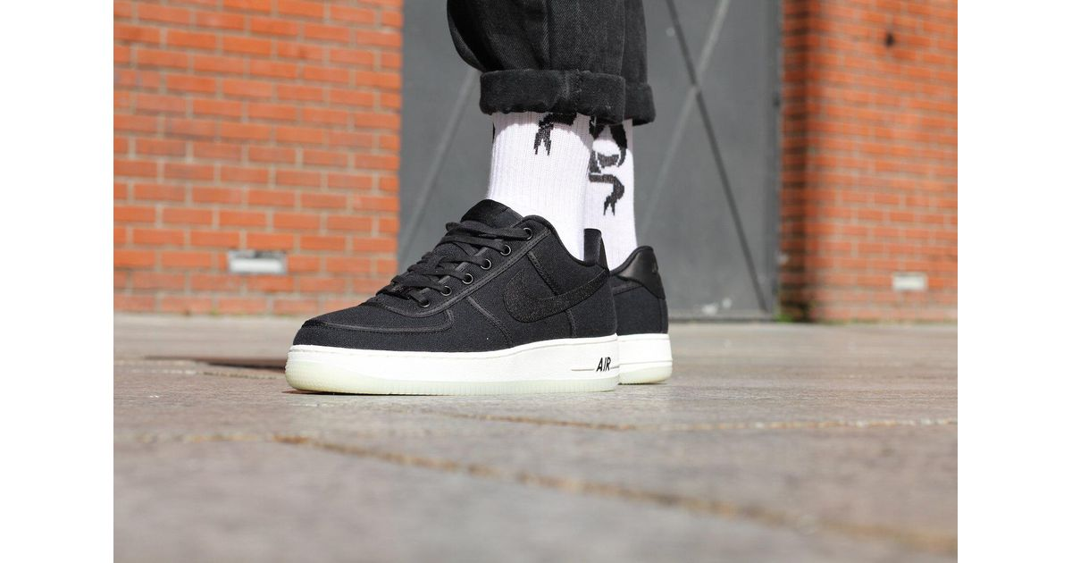 designer fashion 440dc 9da27 Nike Air Force 1 Low Retro Qs Canvas in Black for Men - Lyst