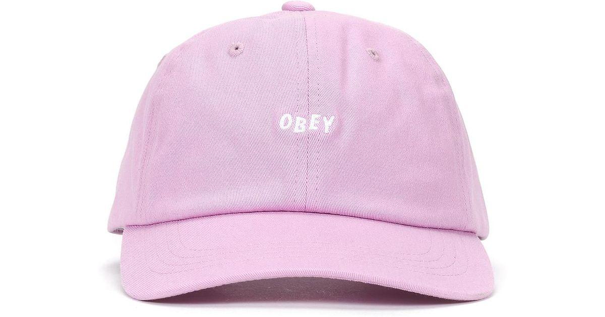 fe57f843d52 Lyst - Obey Jumble Bar Iii 6 Panel Hat in Purple for Men