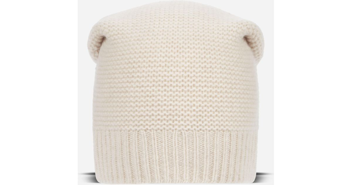 68db327d8 N.Peal Cashmere - White Beanie Cashmere Hat - Lyst