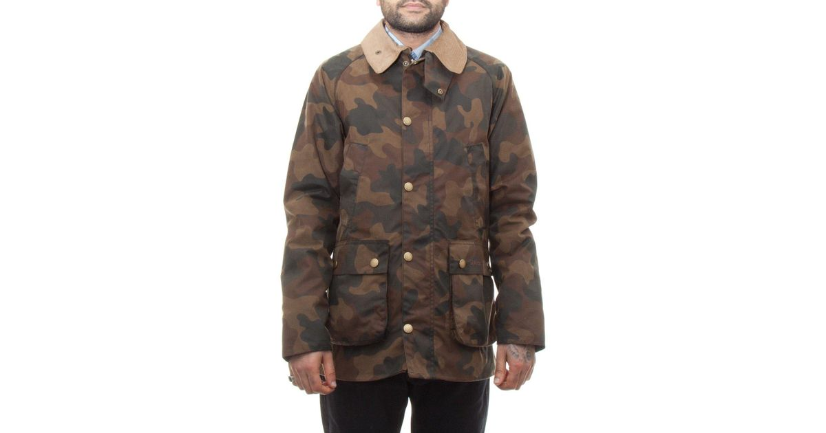 45c6a12ce93a0 Barbour Camo Sl Bedale in Green for Men - Lyst