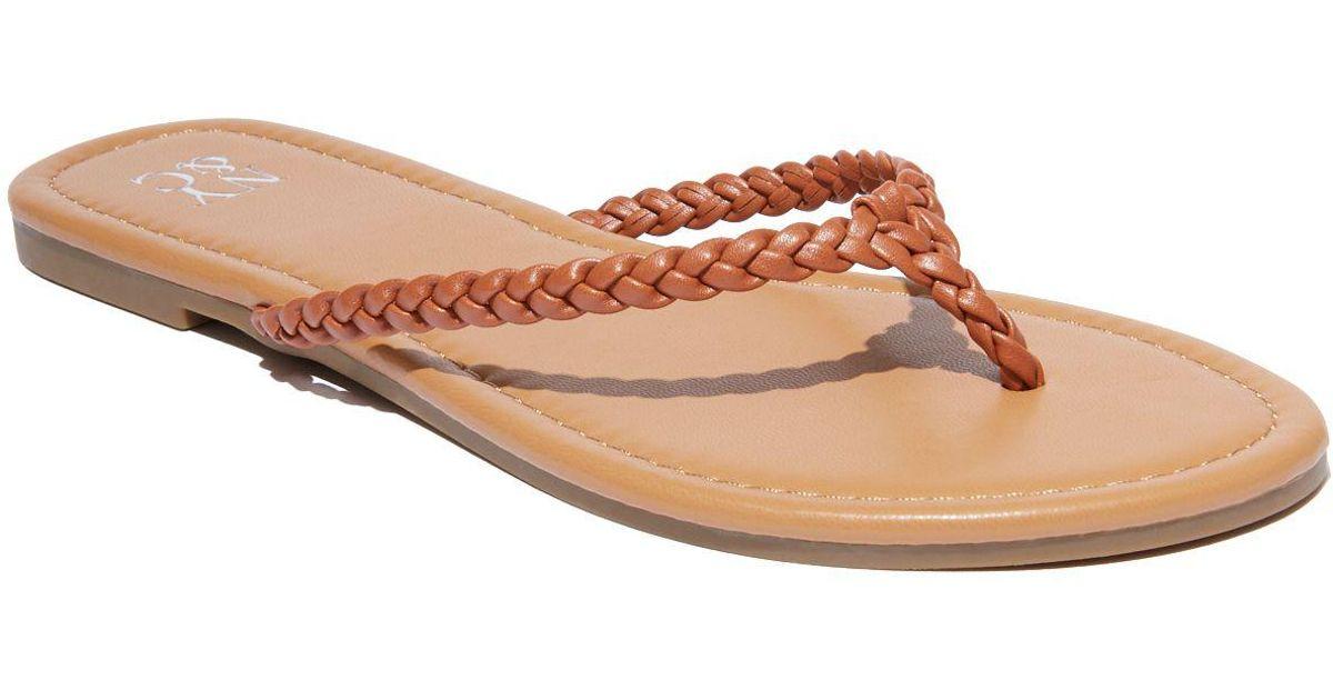 af50c0951 Lyst - New York   Company Braided Flip-flop Sandal