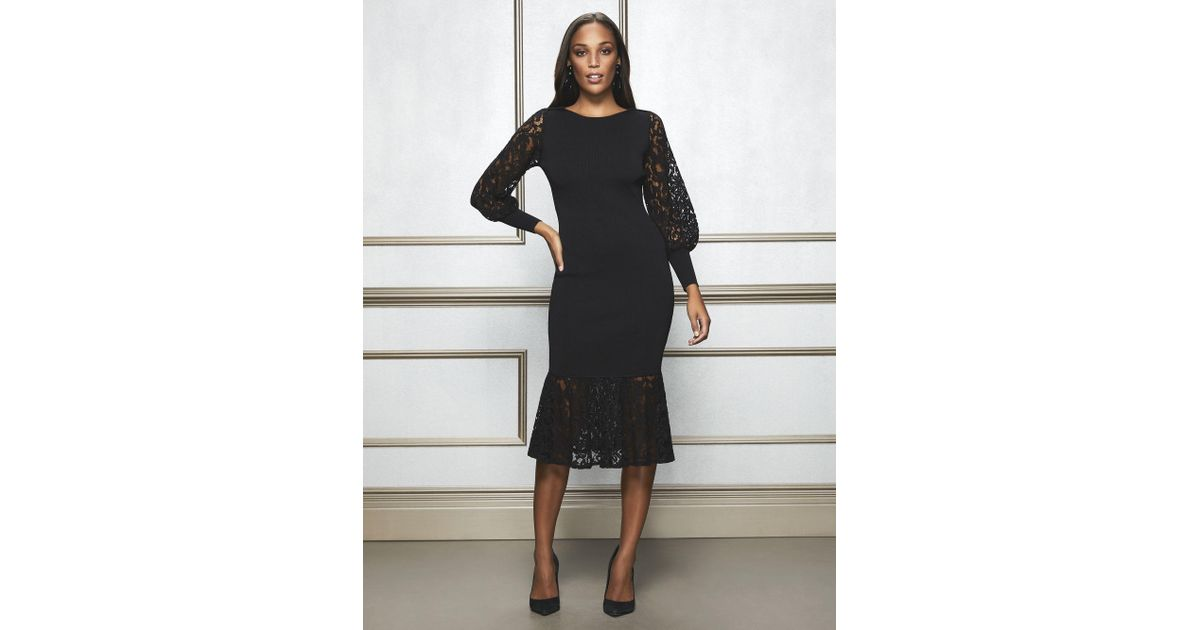 36a0db9af11 New York   Company Kamala Sweater Dress - Eva Mendes Collection in Black -  Lyst