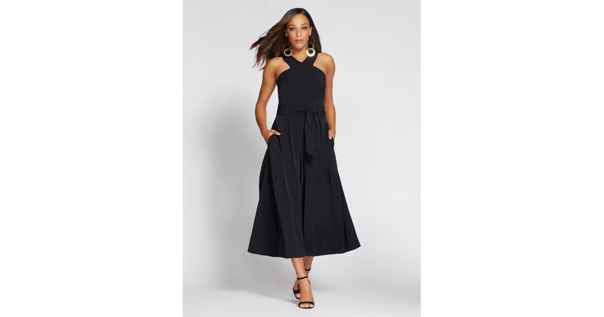 1b3c413edad Lyst - New York   Company Gabrielle Union Collection - Halter Jumpsuit in  Black