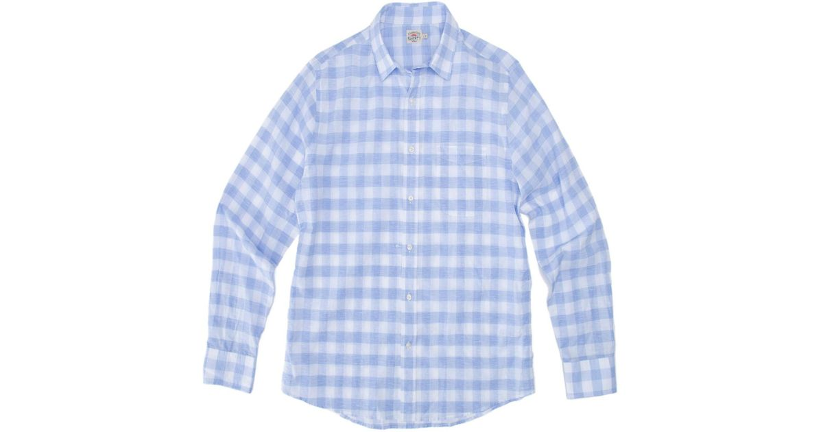 8eb45034 Lyst - Faherty Brand Summer Blend Ventura Sport Shirt in Blue for Men