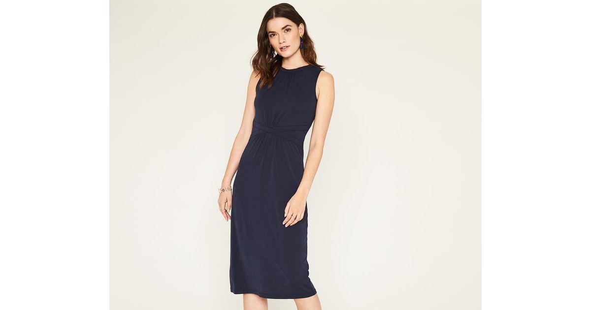 Lyst Oasis Grecian Midi Dress In Blue