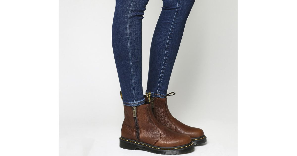 Lyst - Dr. Martens 2976 Zip Chelsea Boots in Brown da7a689ce