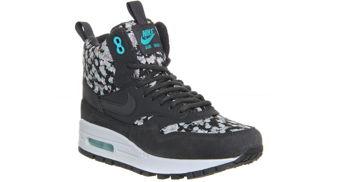 abe8dfd3af3a ... uk lyst nike air max 1 floral print high top sneakers in gray for men  879bb