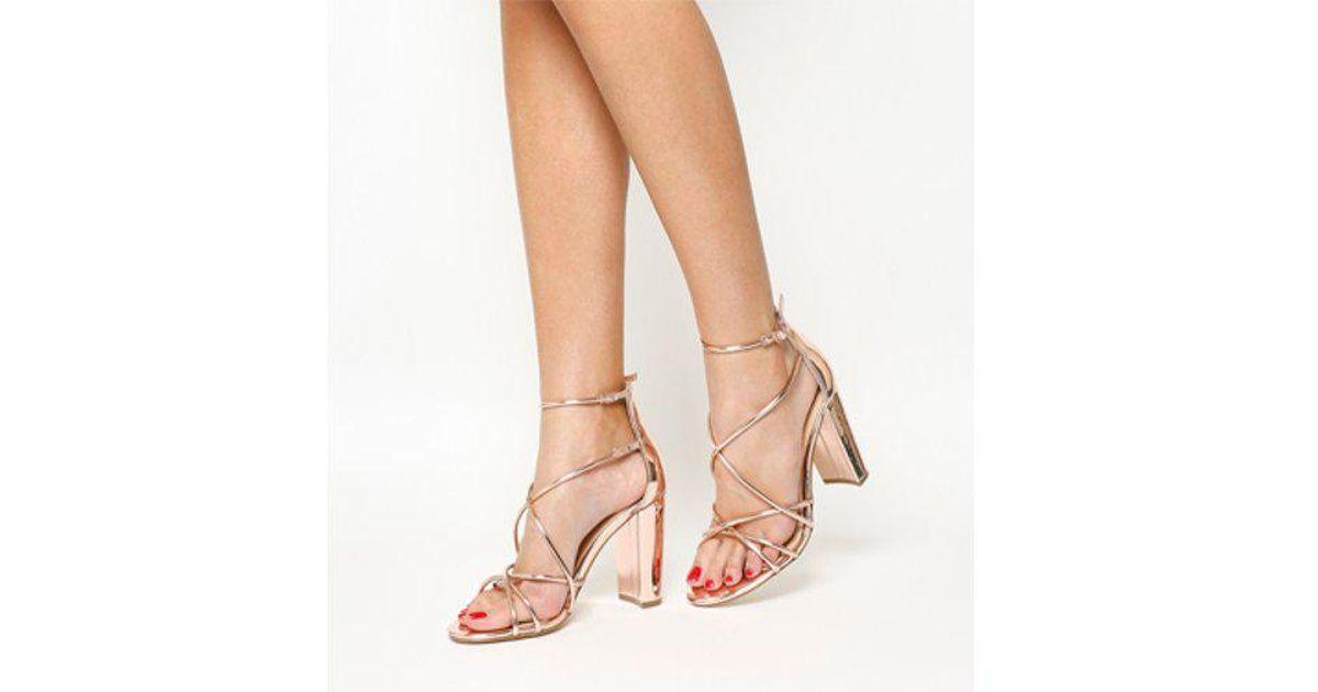 72bd0d072 Lyst - Office Holy Block Heel Sandal in Pink