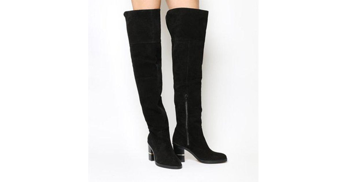 88a3fb7206a Lyst - Office Elemental Over The Knee Boots in Black