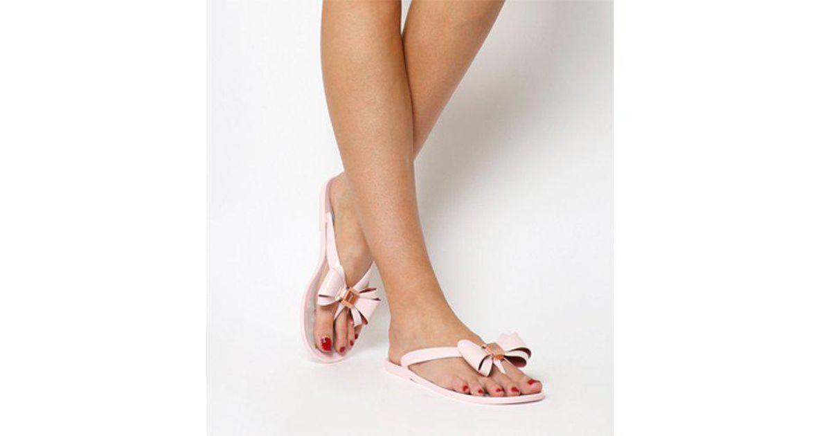 d1f4d9d55 Lyst - Ted Baker Rueday Flip Flop in Pink