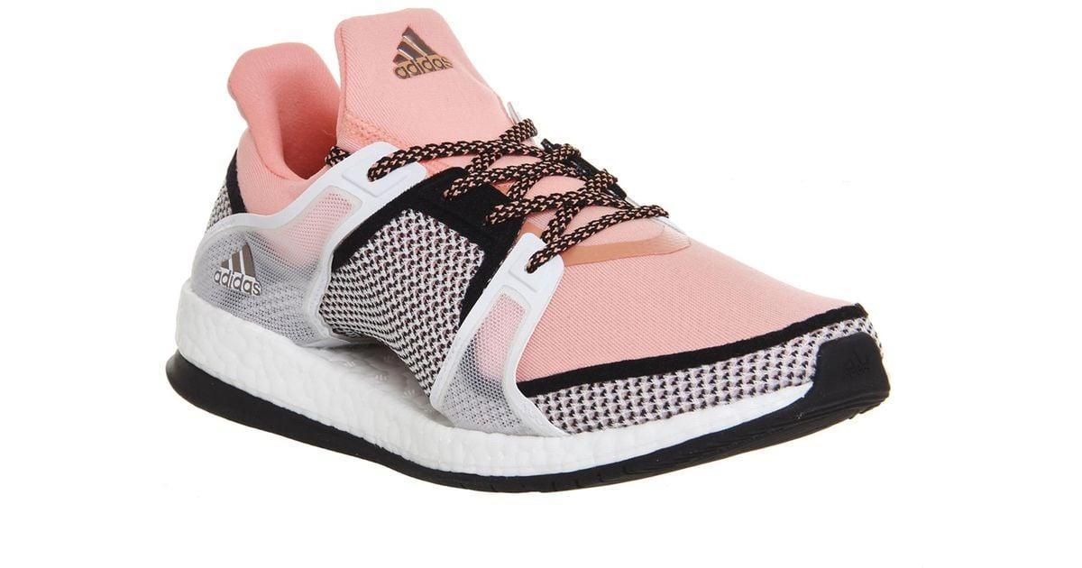 half off 509d6 38f53 adidas Originals Pure Boost X Tr in Pink - Lyst