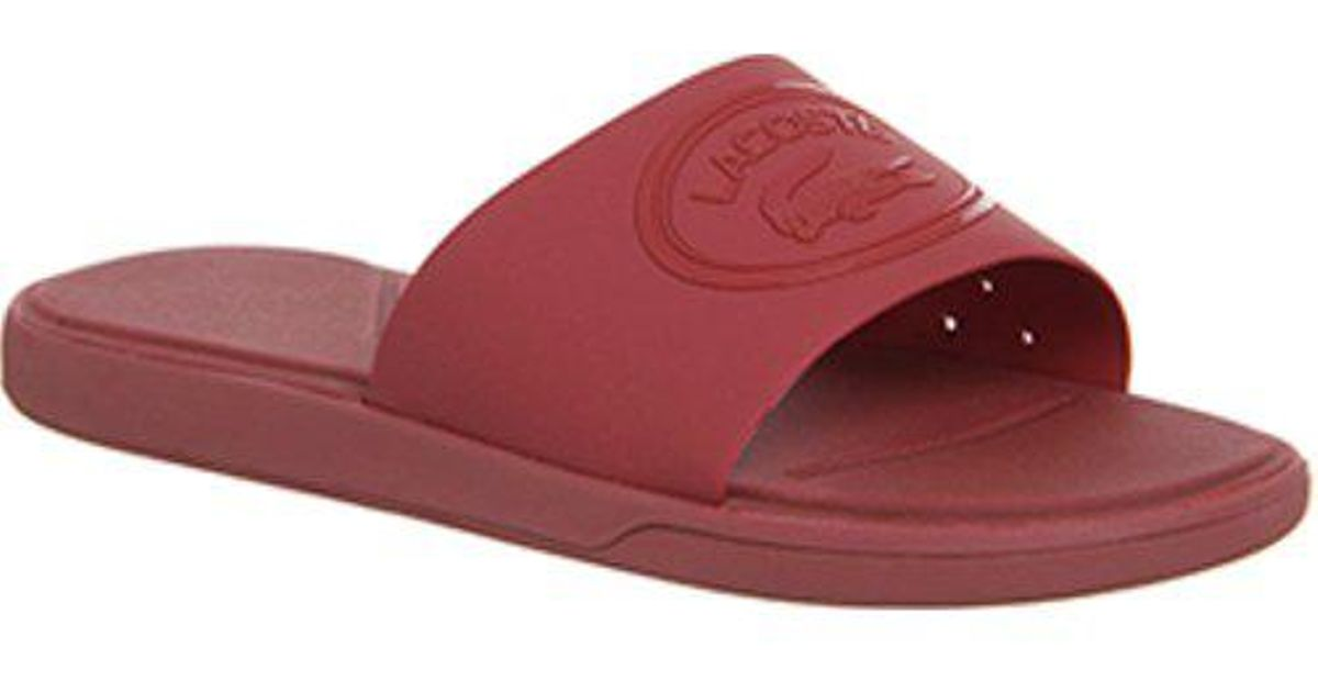 ef020ac09a2163 Lyst - Lacoste L.30 Sliders In Red in Red for Men