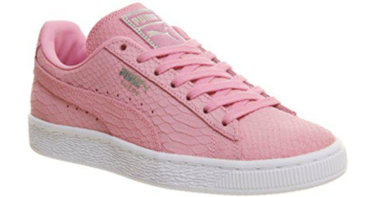 timeless design 5998e 9fb1e PUMA - Pink Suede Classic - Lyst