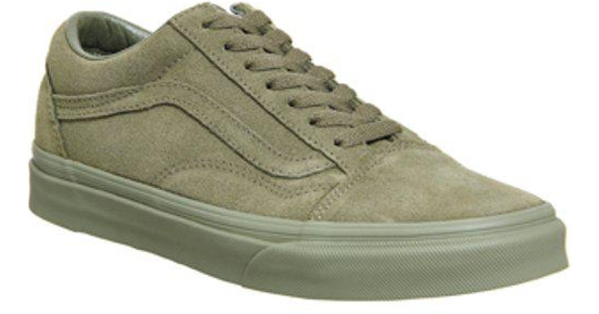 Lyst - Vans Old Skool in Green for Men c15ca2e5c4