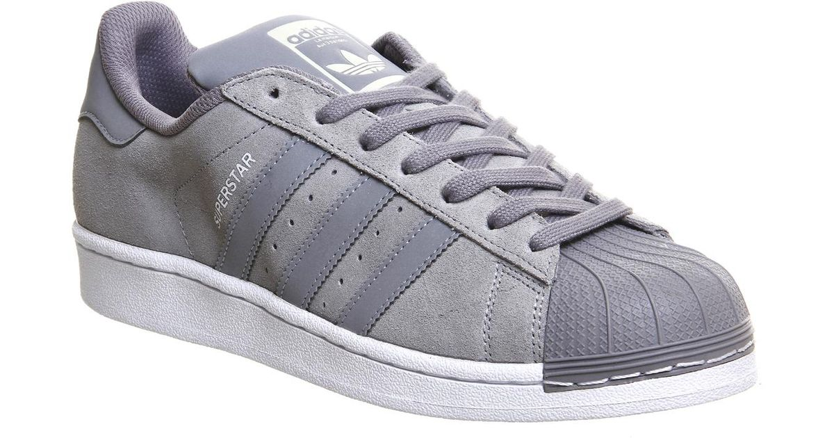 In Lyst Top Superstar Gray Suede 1 Leather And Adidas Sneakers Low qAZwaCq6x