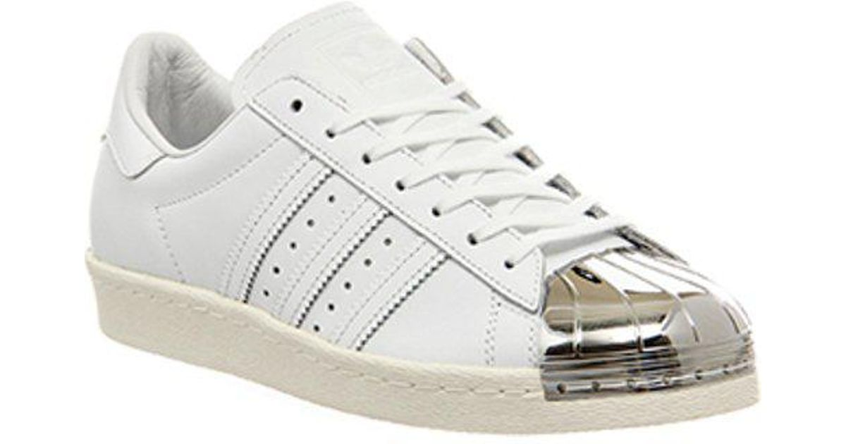 Adidas Superstar 80 'Di Metallo La W In Bianco Lyst
