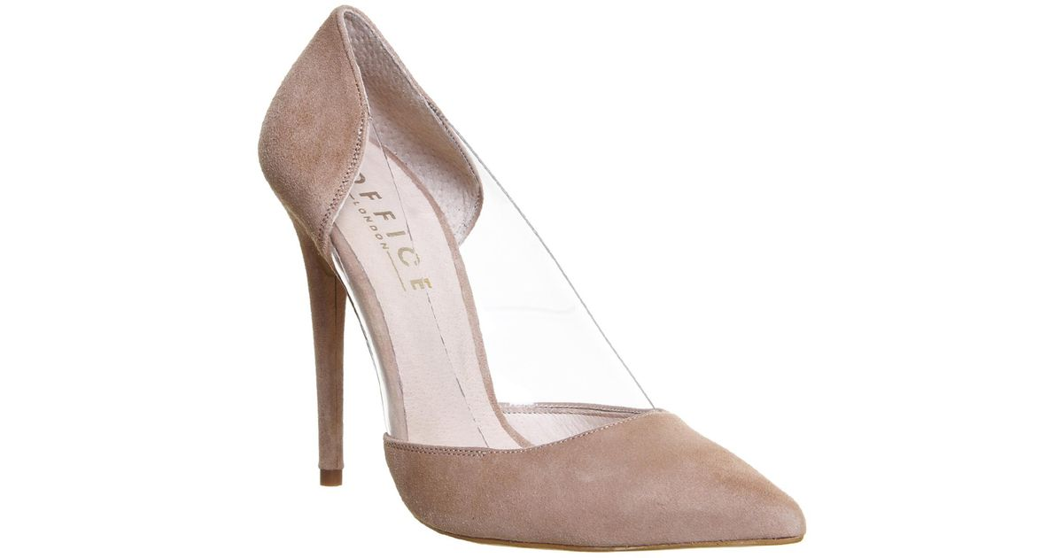 Lyst - Office Alive Perspex Point Court Heels in Natural