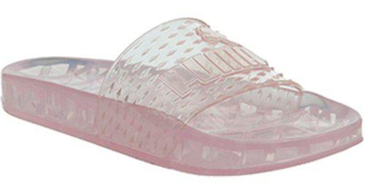 Lyst - PUMA Fenty Jelly Slide in Pink ecfe08002