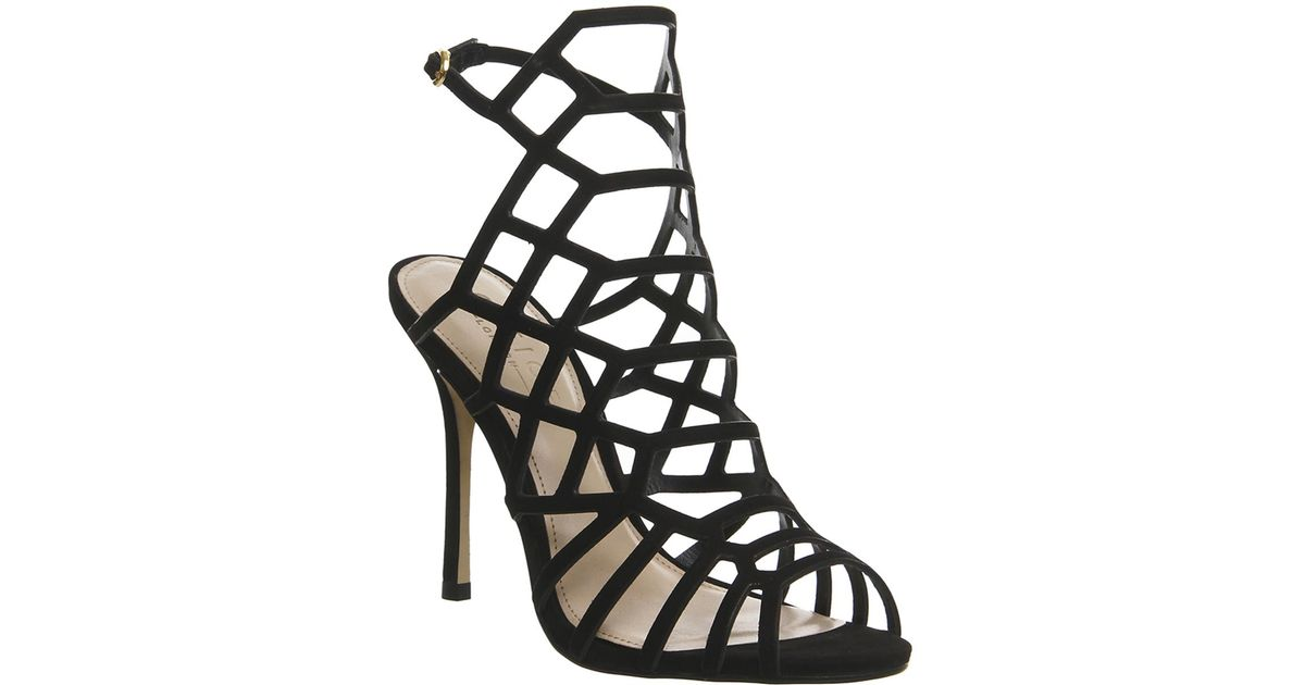 2d6db0fa537 Office Trance Caged Heels in Black - Lyst