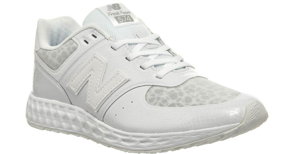 25ba45b947a789 Lyst - New Balance 574 Fresh Foam Premium in White