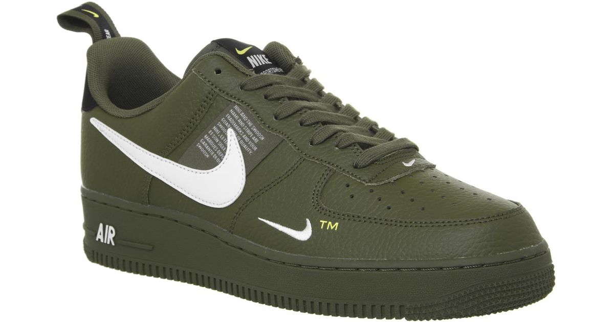 promo code 0b8dc d0ca2 Nike Air Force 1 Utility Trainers in Green for Men - Lyst