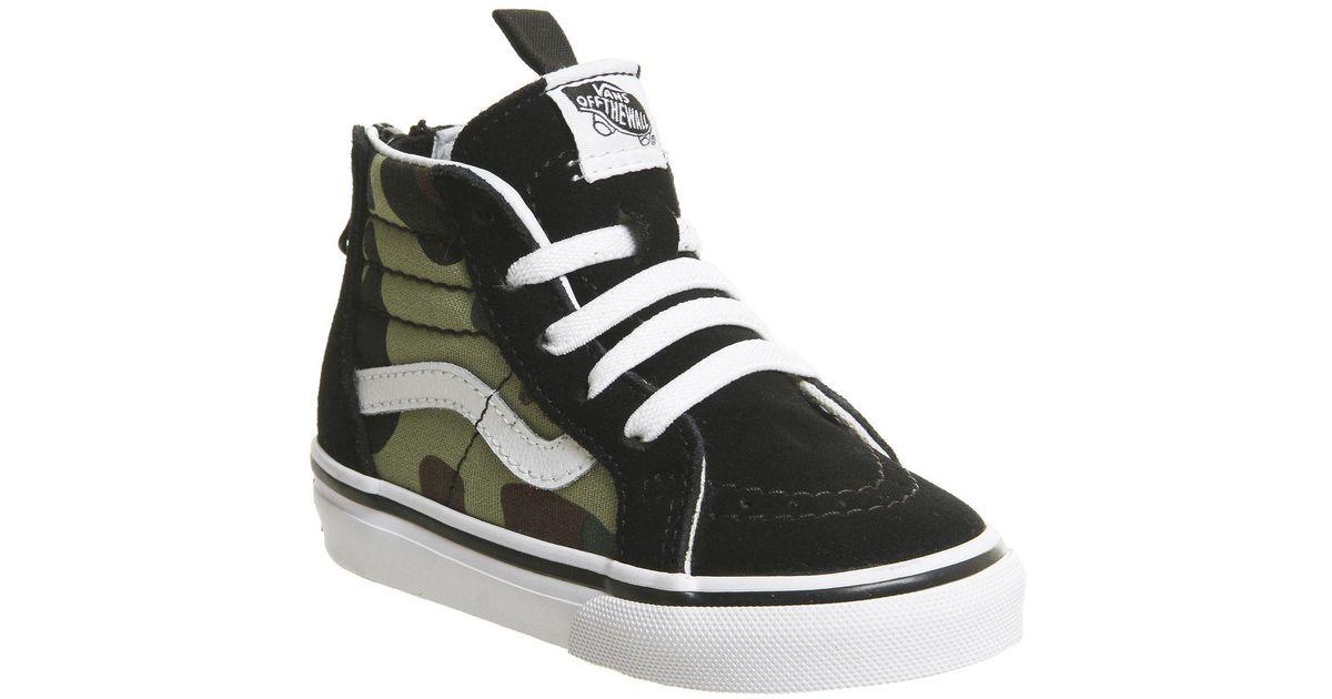 47c8282065 Lyst - Vans Sk8 Hi Zip Toddler in Black for Men