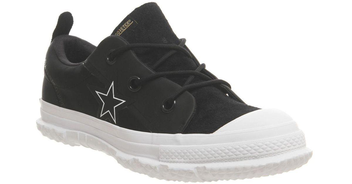 a4e083fca7adb4 Lyst - Converse One Star Mc18 Ox Trainers in Black for Men
