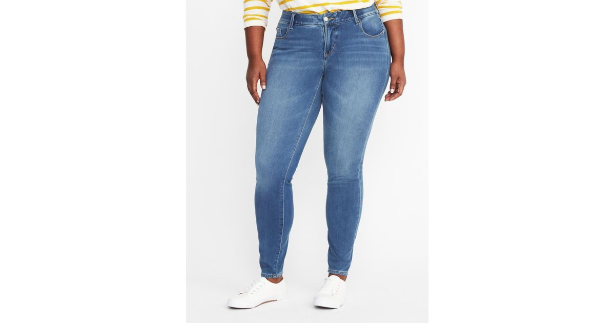fbb4e9221e6ff6 Old Navy High-rise Secret-slim Pockets + Waistband Rockstar 24/7 Plus-size  Jeans in Blue - Lyst