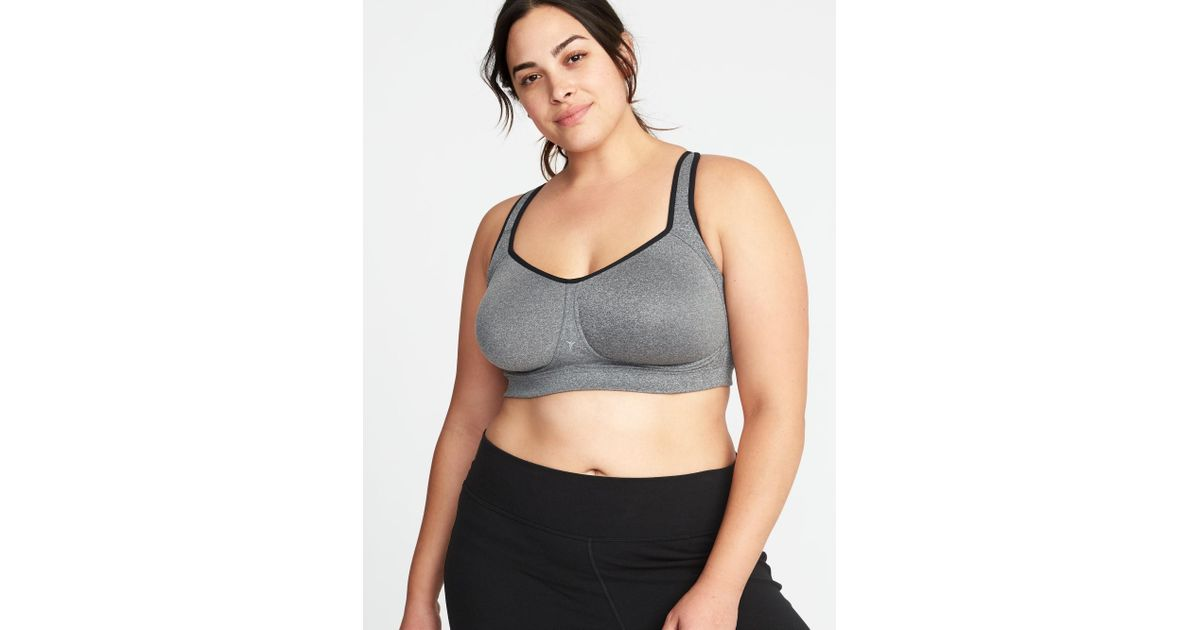 d96a63a3d3c70 Lyst - Old Navy High-support Plus-size Sports Bra in Gray - Save 8%